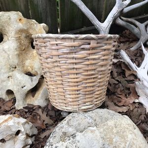 Tan basket with plastic lining